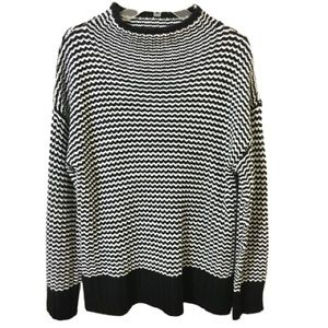 Philosophy Sweater - Black and White Striped - XL